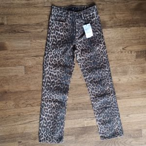 Zara TRF Collection Cheetah Print Jeans New